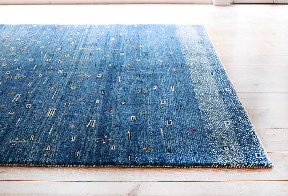 青ギャッベ,ブルーグラデーションギャッベ,幸せの窓,ゾランヴァリ